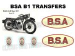 BSA B1 Transfers and Decals Sets